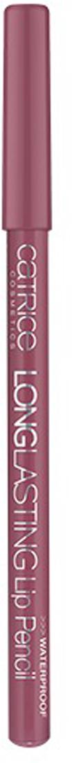 Catrice Контур для губ Longlasting Lip Pencil 180 All-Time Mauvie Star розово-лиловый 0.78 гр20262Стойкая формула и интенсивный цвет карандашей для губ из серии Longlasting не позволят Вашей помаде или блеску выйти за очерченный контур, что позволит сохранить макияж по-настоящему надолго. Он также поможет скрыть небольшие неровности линии губ.