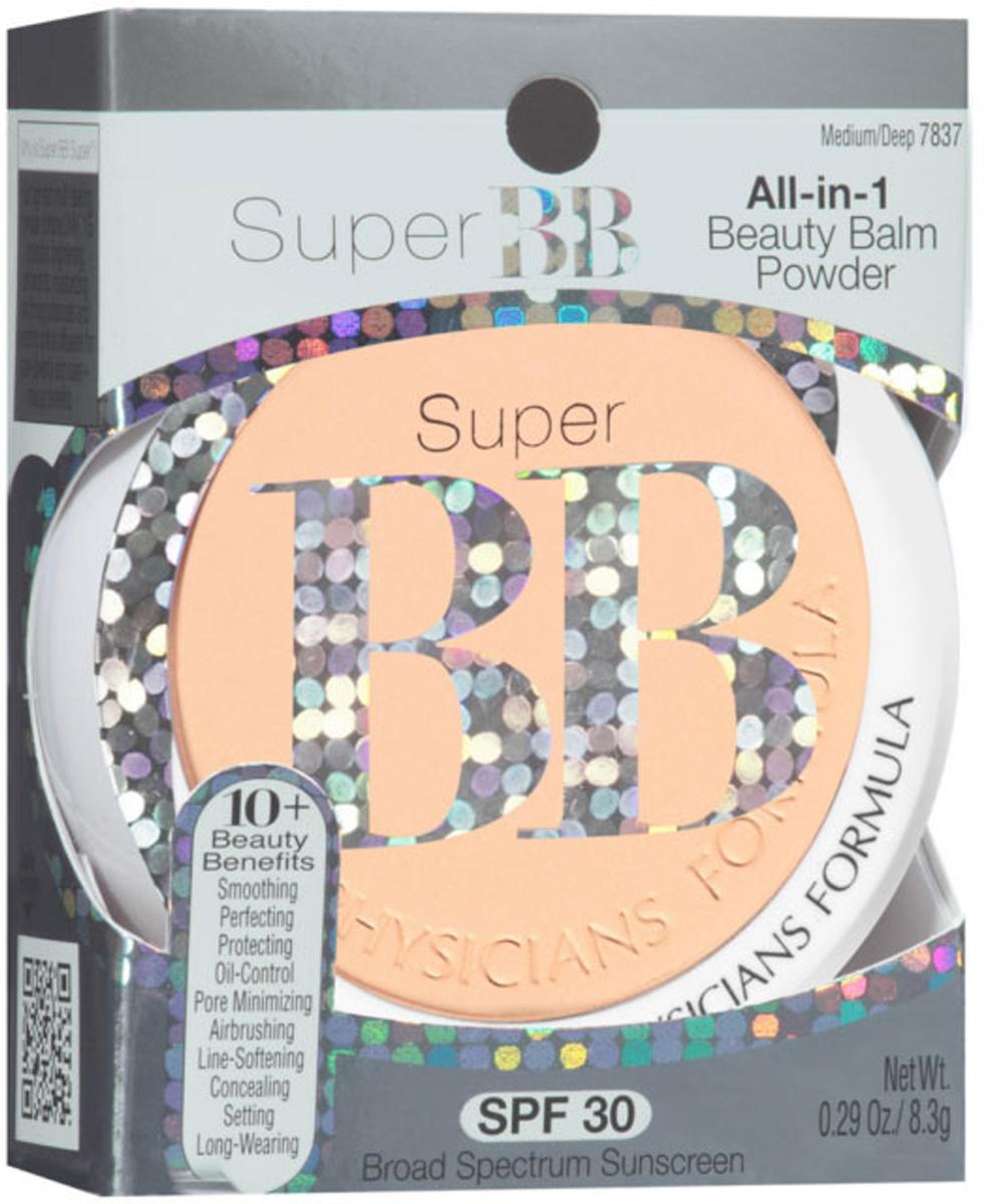 Physicians Formula ВВ Пудра SPF 30 Super BB Beauty Balm Powder тон средний/темный 8.3 г11501011Серия Super BB – это настоящие бальзамы красоты, которые помогают придать коже здоровый, сияющий вид. Они облегчают повседневный макияж, так как обладают универсальным действием: вы получаете преимущества увлажняющего крема, тонального средства и защиту от ультрафиолета в одном продукте! Компактная BB пудра для лица – прекрасное средство для завершения макияжа лица. Она матирует кожу, выравнивает тон и фиксирует тональное средство. Оказывает ухаживающее действие и защищает от внешнего воздействия окружающей среды.
