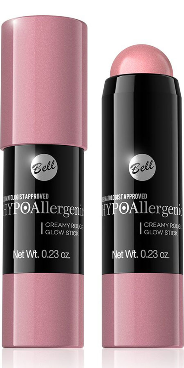 Bell Hypoallergenic Румяна-карандаш Creamy Rouge Glow Stick Гипоаллергенные, Тон №01BrozsHA001