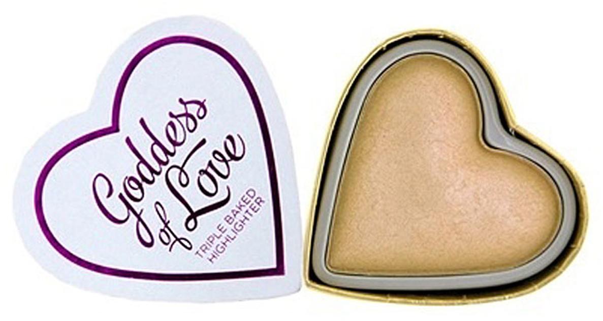 Makeup Revolution Хайлайтер Blushing heart, Goddess of Love Highlighter компактный хайлайтер makeup revolution vivid shimmer brick