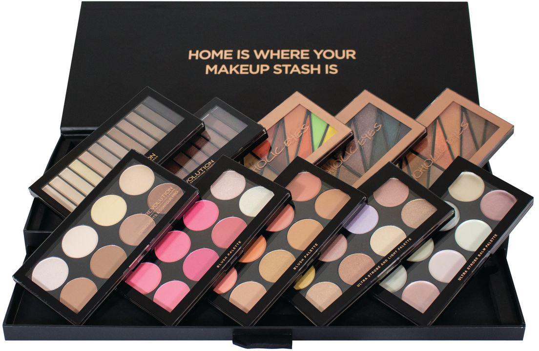 Makeup Revolution Набор для макияжа Palette Vault хайлайтеры makeup revolution хайлайтер radiant lights breathe