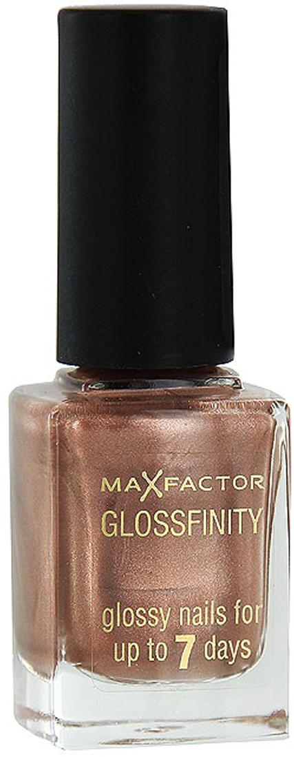 Лак для ногтей Max Factor Glossfinity, тон №60, 11 мл81344557Лак для ногтей Max Factor Glossfinity - неотъемлемый элемент безупречного внешнего вида и прекрасный завершающий штрих вашего роскошного образа.Этот лак создает на ногтях суперглянцевое покрытие, долго сохраняющее отличный вид, словно лак был нанесен только что. Текстура лака Glossfinity имеет оптимальную плотность для удобного и равномерного нанесения. Безупречно держится до семи дней.Лаки для ногтей от Max Factor не содержат компонентов, нарушающих целостность ногтевой пластины, не вызывают нежелательной пигментации и сухости ногтей. Характеристики:Тон: №60 (midnight bronze). Объем: 11 мл. Производитель: Франция. Артикул:81344557.Товар сертифицирован.Как ухаживать за ногтями: советы эксперта. Статья OZON Гид