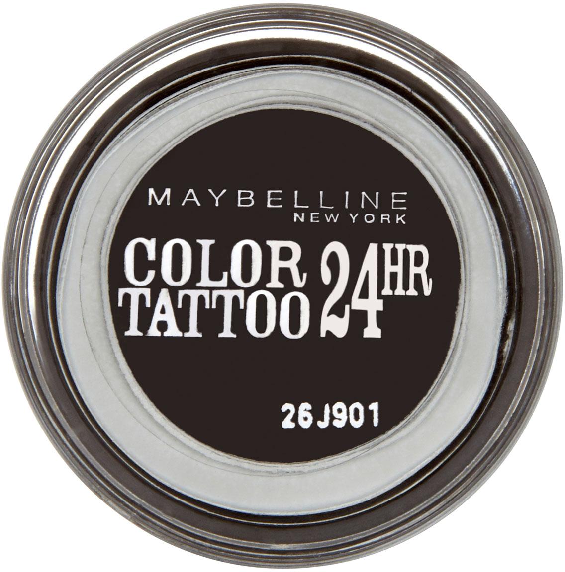 Maybelline New York Тени для век Color Tattoo 24 часа, оттенок 60, Бессменный черный, 4 мл тени maybelline new york тени для век color tattoo оттенок 91 розовый зефир 4 мл