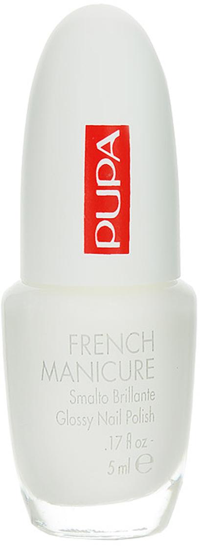 PUPA Лак для ногтей LASTING COLOR, тон 001 французский маникюр , 5 мл. лак для ногтей pupa lasting color 620 цвет 620 lucky red variant hex name b5553f вес 20 00