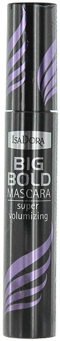 Тушь для ресниц Isa Dora Big Bold Mascara, супер объем, тон №10, цвет: черный, 14 мл тушь для ресниц big bold mascara тон 10 isadora