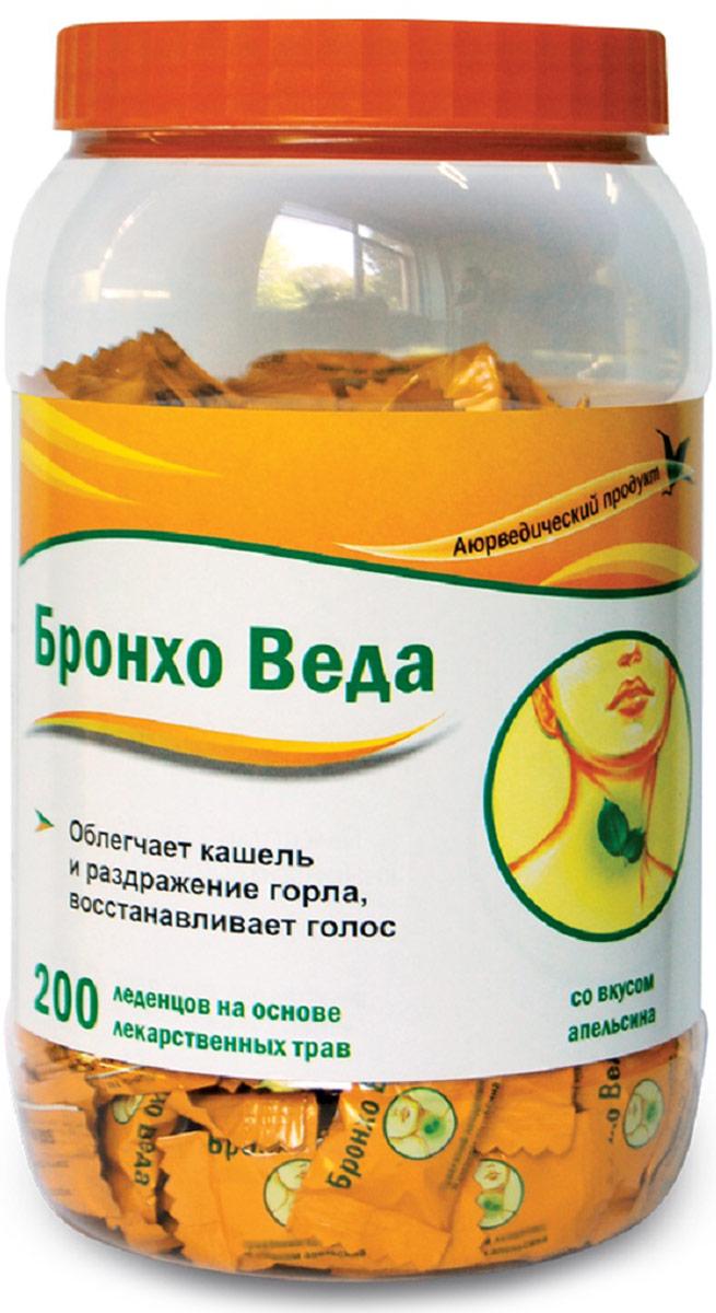 Бронхо Веда леденцы травяные №200 (со вкусом апельсина)223897БРОНХО ВЕДА (Травяные леденцы со вкусом апельсина) - леденцы на основе лекарственных трав, созданные по канонам Аюрведической медицины; облегчают кашель и раздражение горла, восстанавливают голос. Сфера применения: ОториноларингологияПротив гриппа и простуды