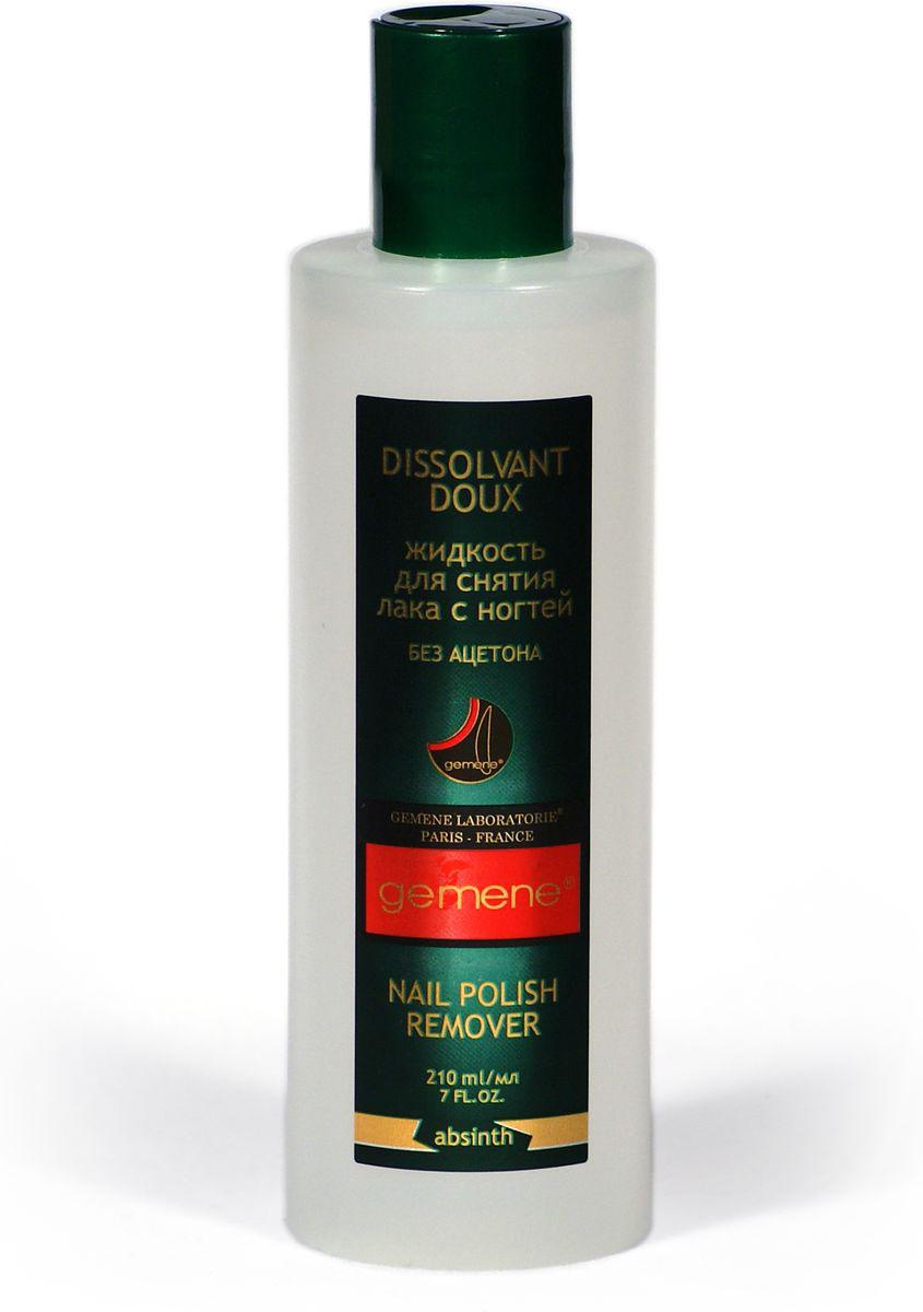 Жидкость для снятия лака Gemene Полынь, без ацетона, 210 мл4751006750517Мягкая жидкость, оставляющая после снятия лака, легкий, приятный и ненавязчивый запах. Пихтовое и касторовое масла отлично компенсируют воздействие на ногти растворителя, подпитывая и смягчая ногтевую пластину. Быстро и эффективно снимает лак.Как ухаживать за ногтями: советы эксперта. Статья OZON Гид