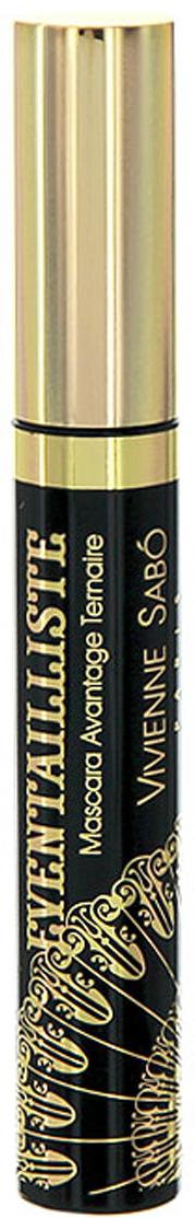 Vivienne Sabo Тушь для ресниц Eventailliste, тройной эффект, тон №01, цвет: черный, 9 мл vivienne sabo mascara volumateur artistique cabaret premiere marine тушь для ресниц объем тон 03 9 мл