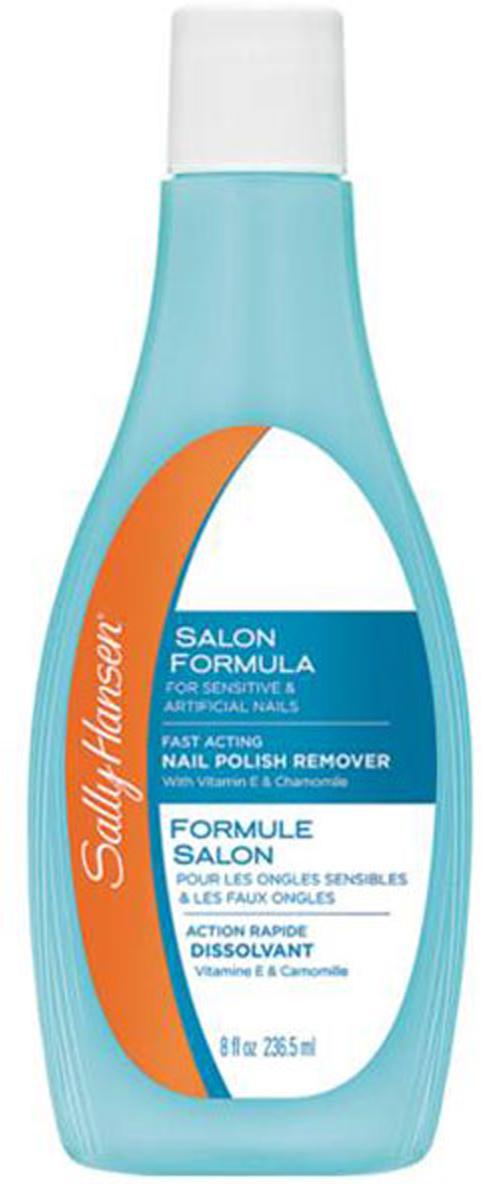 Sally Hansen Жидкость для снятия лака Salon Formula For Artificial & Sensitive Nails, для искусственных и чувствительных ногтей, 236,5 мл