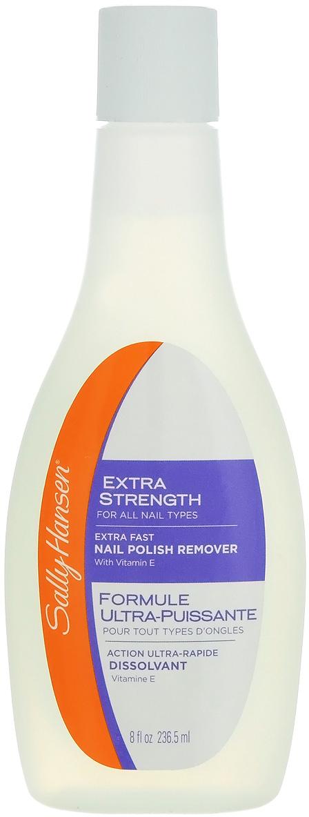 Sally Hansen Жидкость для снятия лака супер-укрепляющая Extra Strength For All Nail Types - Extra Fast Polish Remover, для всех типов ногтей, 236,5 мл