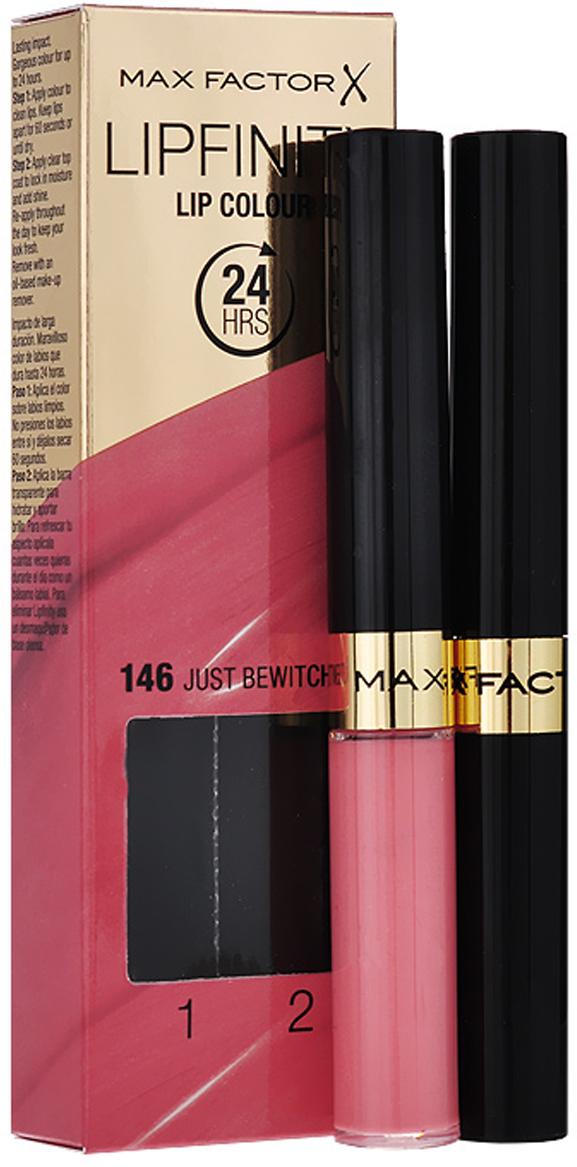 Max Factor Стойкая губная помада и увлажняющий блеск Lipfinity, тон №146 (Just Bewitching)81435504Суперустойчивая помада LIPFINITY – это сенсационный двухступенчатый макияж для губ, который разделяет функции стойкого цвета и увлажнения. Lipfinity включает в себя два продукта – элегантный тюбик с цветом и спонжем для удобного нанесения и суперувлажняющий блеск для губ. В течение дня Ваши губы сохраняют цвет, при необходимости достаточно лишь нанести увлажняющий блеск! Lipfinity- это стойкость и великолепные оттенки на любой вкус! Двухступенчатое нанесение: блеск для роскошного цвета для губ и бальзам для сияние увлажнения. Наноси бальзам регулярно в течение дня, чтобы сохранить свежесть цвета губ.1. На сухие чистые губы нанести жидкий красящий пигмент специальной кисточкой. 2. Подождать 1 минуту, нанести увлажняющий блеск, который защитит нежную кожу губ от сухости и шелушения и придаст губам глянец. 3. Стойкая губная помада Lipfinity смывается любым средством для снятия макияжа, содержащим жировые компоненты.Какая губная помада лучше. Статья OZON Гид
