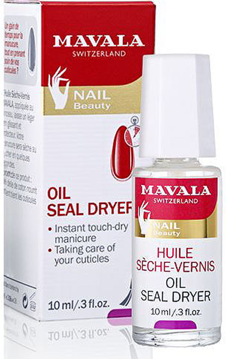 Mavala Сушка-фиксатор лака с маслом Oil Seal Dryer, 10 мл уход за кутикулой eve lom cuticle сream объем 7 мл