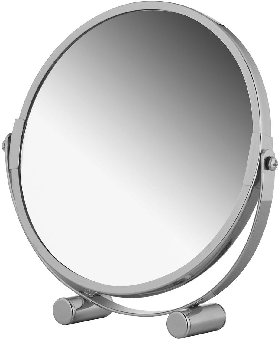 Зеркало двухстороннее Tatkraft Eos, настольное, диаметр 17 см полка угловая tatkraft vacuum screw conrad 3 х ярусная 17 х 17 х 54 см