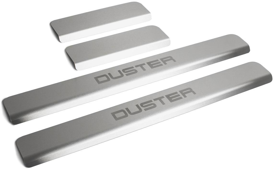 Накладки на пороги  Rival , для Renault Duster 2012-, 4 шт - Тюнинг и защита - Защита внешних частей