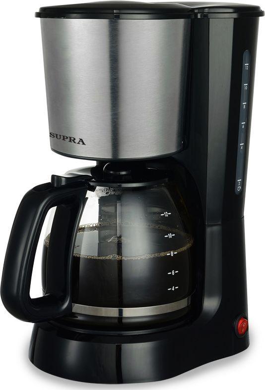 Supra CMS-1501, Black кофеваркаSUPRA CMS-1501, 05M0Мощность 1000 Вт, объем 1,5 л, многоразовый фильтр, мерная ложка, индикатор работы, индикатор уровня воды, прорезиненные ножки