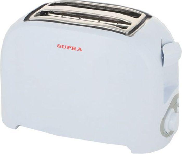 Supra TTS-115, White тостер355900 Вт, 2 слота, поддон, функция подогрева, функция размораживания, 7-ми позиционный таймер, цвет белый
