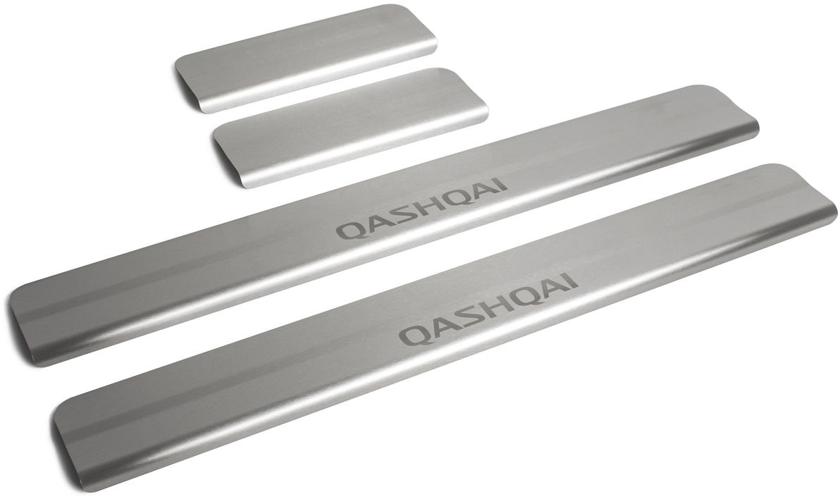 """Накладки на пороги """"Rival"""", для Nissan Qashqai 2014-, 4 шт"""