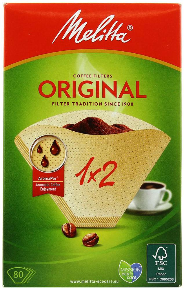 Melitta Original, Brown фильтры для заваривания кофе, 1х2/800100762Оригинальные бумажные фильтры Melitta Original 1х2 натурального коричневого цвета. Откройте для себясбалансированный и еще более насыщенный вкус кофе с помощью бумажных фильтров для кофе Original стехнологией Aromapor. Арома-поры теперь разделены на 3 арома-зоны, каждая с разным количеством перфораций.Это позволяет бумажным фильтрам для кофе Original быть частью приготовления отличного кофе.Размер: 1х2 Высочайшая степень фильтрации Чрезвычайно прочный двойной шовУважаемые клиенты! Обращаем ваше внимание на то, что упаковка может иметь несколько видов дизайна. Поставка осуществляется в зависимости от наличия на складе.