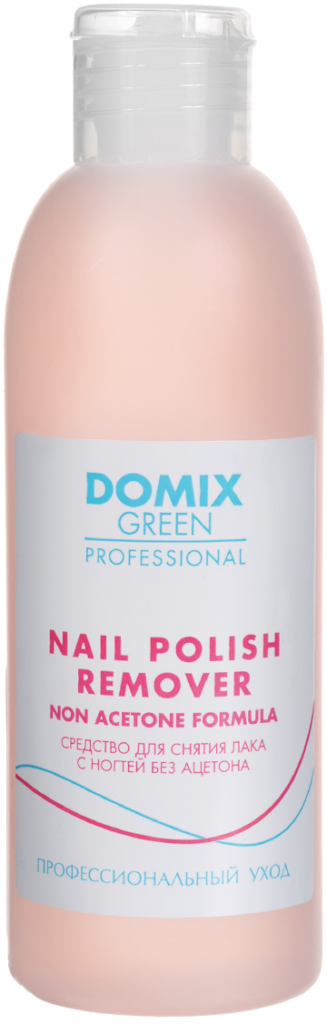 Domix Green Professional Средство для снятия лака с ногтей, без ацетона, 200 мл лак для ногтей domix green professional spray dryer 75 мл