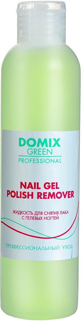 Domix Green Professional Жидкость для снятия лака с гелевых ногтей, 200 мл жидкость domix green professional universal neutralizer 150 мл