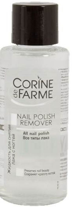 Corine De Farme Жидкость для снятия лака с ногтей, 100 мл