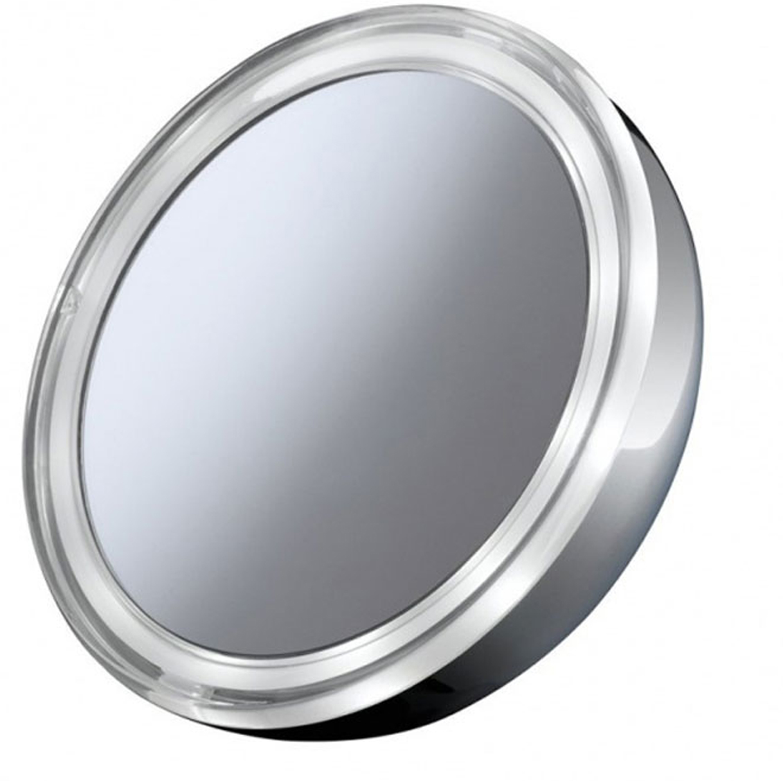 Imetec 5056 косметическое зеркало5056Imetec 5056 - это удобное зеркало серебристого цвета в форме круга, при помощи которого вы легко сможетенанести макияж. Диаметр зеркала — 128 мм. Благодаря круговой LED-подсветке и трехкратному увеличению вамудастся тщательно и точно нанести на лицо все детали макияжа. Для легкого и быстрого отсоединения подставкиу зеркала есть специальная система со встроенным магнитом. Устройство работает от трех батареек типа ААА.
