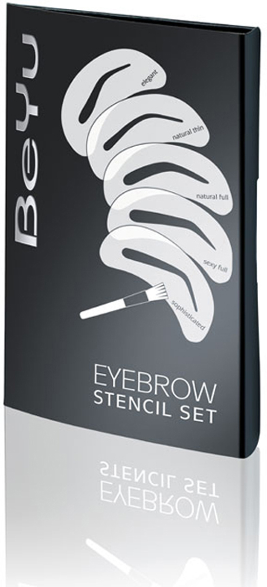 BeYu Набор трафаретов для бровей Eyebrow Stencil Set гель для бровей с микроволокнами eyebrow booster filling effect 6 8мл