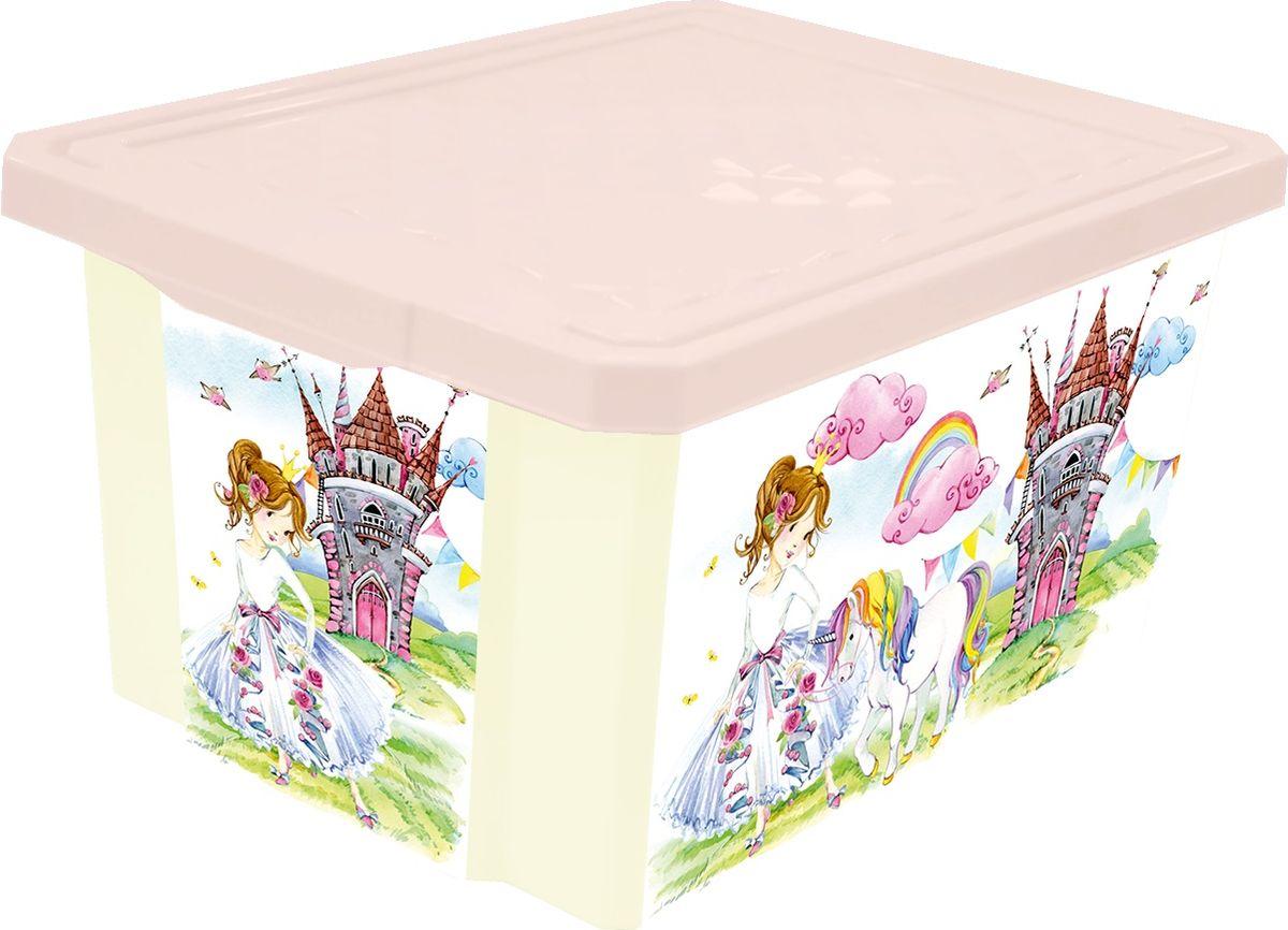 Little Angel Ящик для игрушек X-Box Сказочная Принцесса на колесах 57 л little angel ящик для игрушек x box малышарики 17 л