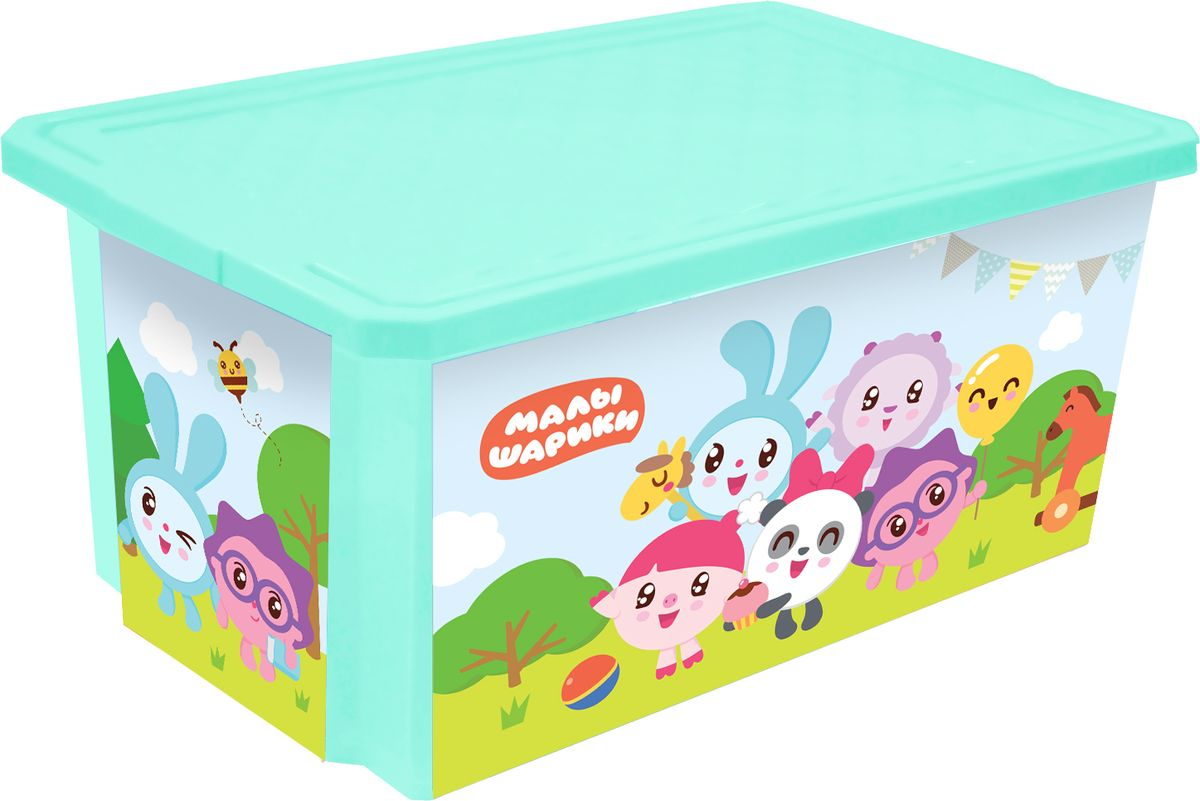 Little Angel Ящик для игрушек X-Box Малышарики 57 л -  Товары для хранения
