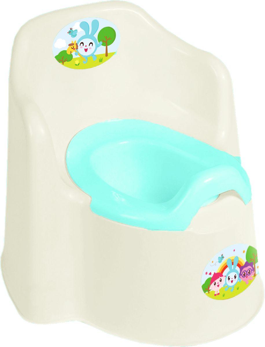 Little Angel Горшок детский Little King Малышарики цвет молочный -  Горшки и адаптеры для унитаза