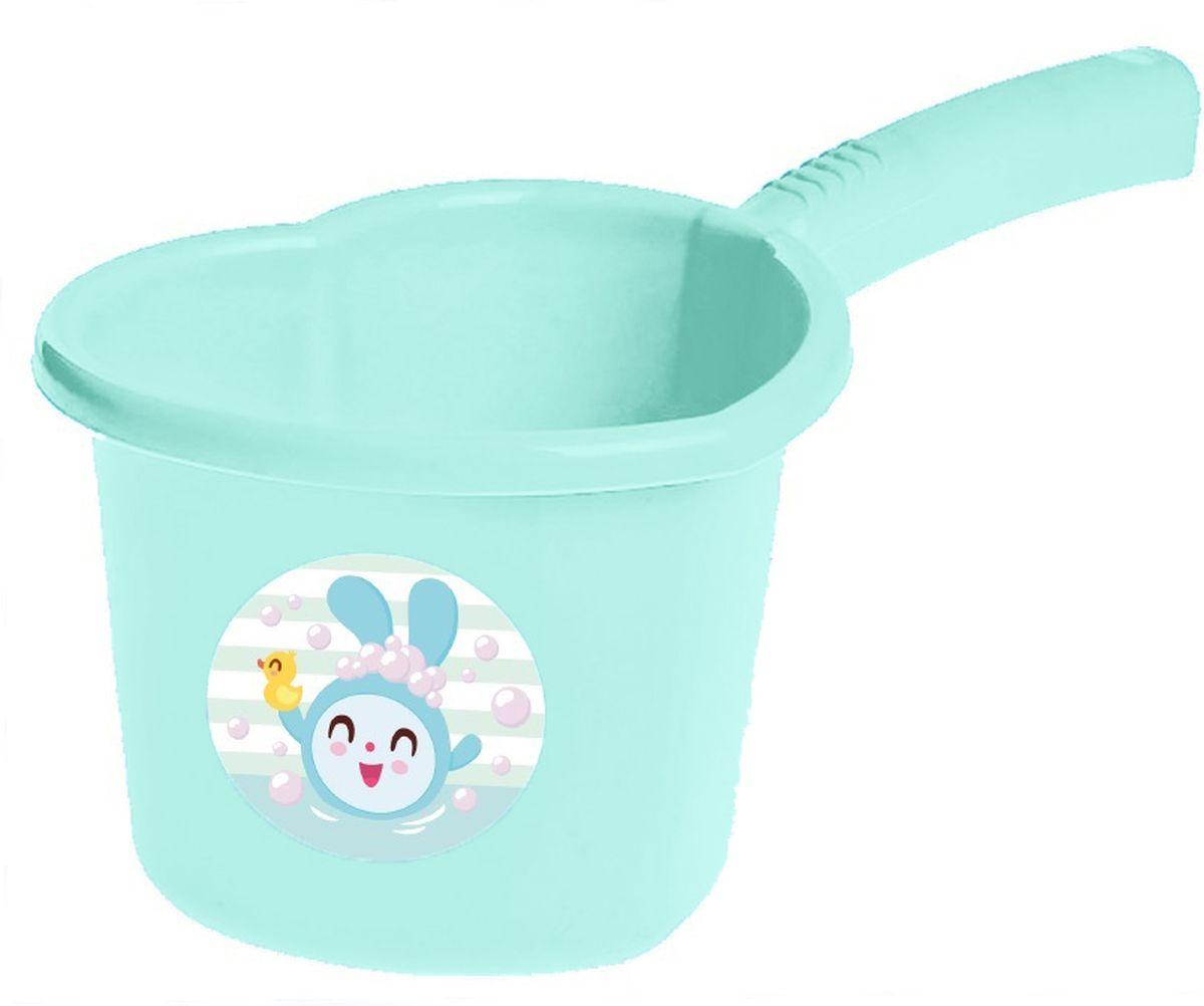 Little Angel Ковшик детский Малышарики цвет бирюзовый -  Все для купания