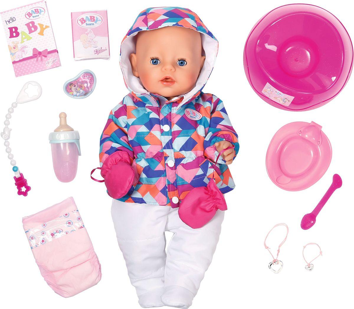 Baby Born Интерактивная кукла Зимняя пора baby born кукла быстросохнущая baby born