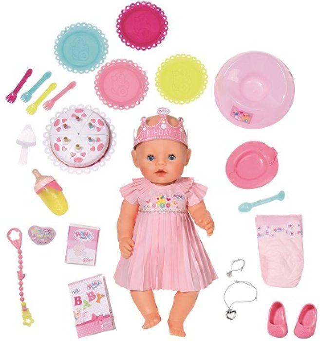 Baby Born Интерактивная кукла Нарядная с тортом 43 см