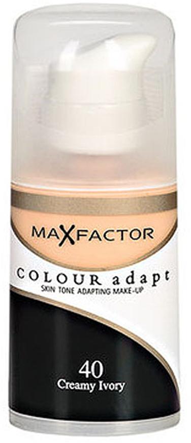 Max Factor Тональный крем Colour Adapt, тон 40 Creamy Ivory (Слоновая кость), 34 мл221.12Тональная основа, которая поможет справиться с неровным тоном лица. Тональная основа Max Factor Colour Adapt адаптируется ктону кожи и создает естественное покрытие. Так в чемже секрет? «Умные частицы» тональной основы адаптируются ктону кожи, который отличается в разных зонах, обеспечивая невероятно легкое покрытие и не маскируя естественное свечение кожи. Тональная основа Max Factor Colour Adapt обеспечивает идеальный тон, кожа выглядит свежей и сияющей весь день. Инновационная технология для совершенства кожи. Помогает выровнять тон кожи, скрыть несовершенства и мелкие морщинки для создания идеального образа. Тональная основа Max Factor Colour Adapt имеет легкую формулу крем-пудры и подстраивается под любой тон кожи для удивительно естественного образа. Эмульсия на основе силикона и эластомера адаптируется ктону кожи и обеспечивает естественное умеренное покрытие для создания нежного и невесомого макияжа. Основа не содержит масел, подходит для чувствительной кожи, протестирована дерматологами, не закупоривает поры.Кремово-пудровая текстура для безупречного покрытия. Ультралегкая формула не сушит кожу. Содержит несколько цветовых пигментов, которые адаптируются ктону кожи. Не содержит масла, подходит для чувствительной кожи. Не закупоривает поры. Протестировано дерматологами.Сравни тон основы с тоном кожи на щеках и линии челюсти, чтобы подобрать идеальный оттенок. Если тон подобран правильно, то он буквально исчезнет на твоей коже. Чтобы достичь ровного покрытия, нанеси небольшое количество основы на тыльную сторону ладони и распредели по лицу кистью или кончиками пальцев. Нанеси небольшое количество на центральную часть лица и растушуй от центра кпериферии. Нанеси средство на веки и губы в качестве базы под тени и помаду.