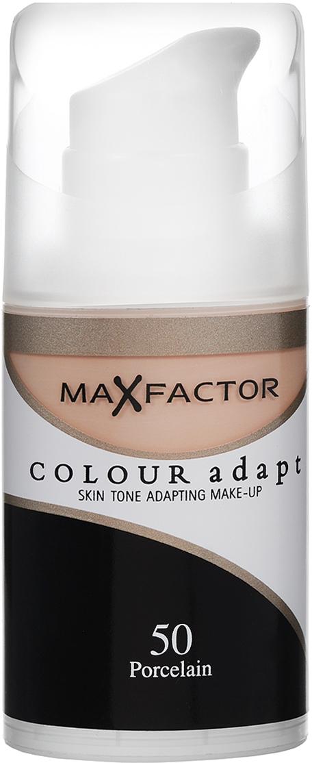 Max Factor Тональный крем Colour Adapt, тон №50 Porcelain (Светло-бежевый), 34 мл243000Не скрывайте свой естественный цвет лица. Подчеркните его! Тональный крем Colour Adapt благотворно воздействует и прорабатывает оттенок каждого участка кожи вашего лица, создавая самую естественную основу для макияжа.Умные частицы, адаптирующиеся к цвету поверхности, выявляют и отражают разнообразные пигменты кожи лица, придавая ей совершенно естественный вид, не скрывая природного сияния. Товар сертифицирован.