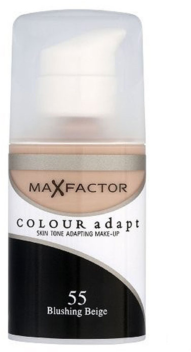 Max Factor Тональный крем Colour Adapt, тон 55 Blushing Beige (Бежевый), 34 мл80957264Тональная основа, которая поможет справиться с неровным тоном лица. Тональная основа Max Factor Colour Adapt адаптируется ктону кожи и создает естественное покрытие. Так в чемже секрет? «Умные частицы» тональной основы адаптируются ктону кожи, который отличается в разных зонах, обеспечивая невероятно легкое покрытие и не маскируя естественное свечение кожи. Тональная основа Max Factor Colour Adapt обеспечивает идеальный тон, кожа выглядит свежей и сияющей весь день. Инновационная технология для совершенства кожи. Помогает выровнять тон кожи, скрыть несовершенства и мелкие морщинки для создания идеального образа. Тональная основа Max Factor Colour Adapt имеет легкую формулу крем-пудры и подстраивается под любой тон кожи для удивительно естественного образа. Эмульсия на основе силикона и эластомера адаптируется ктону кожи и обеспечивает естественное умеренное покрытие для создания нежного и невесомого макияжа. Основа не содержит масел, подходит для чувствительной кожи, протестирована дерматологами, не закупоривает поры.Кремово-пудровая текстура для безупречного покрытия. Ультралегкая формула не сушит кожу. Содержит несколько цветовых пигментов, которые адаптируются ктону кожи. Не содержит масла, подходит для чувствительной кожи. Не закупоривает поры. Протестировано дерматологами.Сравни тон основы с тоном кожи на щеках и линии челюсти, чтобы подобрать идеальный оттенок. Если тон подобран правильно, то он буквально исчезнет на твоей коже. Чтобы достичь ровного покрытия, нанеси небольшое количество основы на тыльную сторону ладони и распредели по лицу кистью или кончиками пальцев. Нанеси небольшое количество на центральную часть лица и растушуй от центра кпериферии. Нанеси средство на веки и губы в качестве базы под тени и помаду.