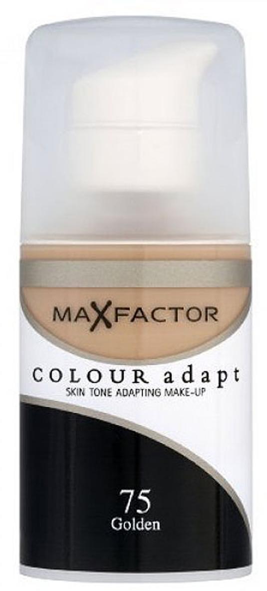 Max Factor Тональный крем Colour Adapt, тон 75 Golden (Золотой), 34 мл80957268Тональная основа, которая поможет справиться с неровным тоном лица. Тональная основа Max Factor Colour Adapt адаптируется ктону кожи и создает естественное покрытие. Так в чемже секрет? «Умные частицы» тональной основы адаптируются ктону кожи, который отличается в разных зонах, обеспечивая невероятно легкое покрытие и не маскируя естественное свечение кожи. Тональная основа Max Factor Colour Adapt обеспечивает идеальный тон, кожа выглядит свежей и сияющей весь день. Инновационная технология для совершенства кожи. Помогает выровнять тон кожи, скрыть несовершенства и мелкие морщинки для создания идеального образа. Тональная основа Max Factor Colour Adapt имеет легкую формулу крем-пудры и подстраивается под любой тон кожи для удивительно естественного образа. Эмульсия на основе силикона и эластомера адаптируется ктону кожи и обеспечивает естественное умеренное покрытие для создания нежного и невесомого макияжа. Основа не содержит масел, подходит для чувствительной кожи, протестирована дерматологами, не закупоривает поры.Кремово-пудровая текстура для безупречного покрытия. Ультралегкая формула не сушит кожу. Содержит несколько цветовых пигментов, которые адаптируются ктону кожи. Не содержит масла, подходит для чувствительной кожи. Не закупоривает поры. Протестировано дерматологами.Сравни тон основы с тоном кожи на щеках и линии челюсти, чтобы подобрать идеальный оттенок. Если тон подобран правильно, то он буквально исчезнет на твоей коже. Чтобы достичь ровного покрытия, нанеси небольшое количество основы на тыльную сторону ладони и распредели по лицу кистью или кончиками пальцев. Нанеси небольшое количество на центральную часть лица и растушуй от центра кпериферии. Нанеси средство на веки и губы в качестве базы под тени и помаду.