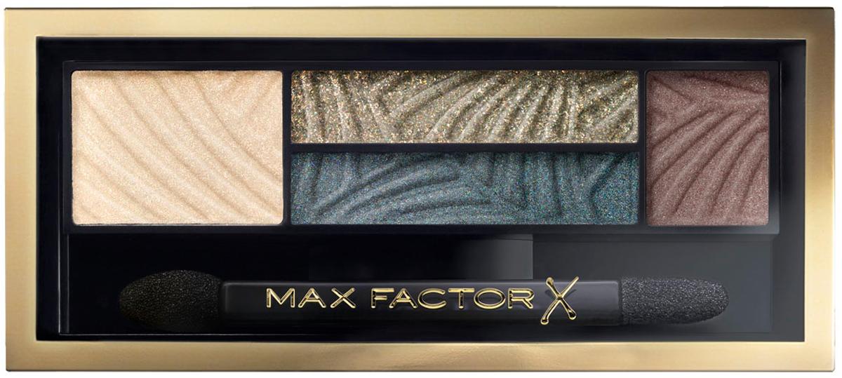 Max Factor 4-хцветные тени для век и бровей Smokey Eye Drama Kit 2 В 1, тон 05 magnetic jades81513856Измени свой образ в 4простых шага с палеткой теней Max Factor Smokey Eye Drama Kit. Насыщенные пигментом оттенки и пудра для бровей идеально сочетаются друг с другом в одной палетке для создания гламурного макияжа глаз. Тени усиливают интенсивность и подчеркивают цвет глаз, - тебе только остается выбрать палетку, наиболее подходящую к цвету твоих глаз. Оттенок Lavish Onyx идеально подойдет глазам любого цвета, в то время как Azure Allure придаст выразительность голубым глазам. Оттенки Sumptuous Golds и Opulent Nudes придадут сияние карим глазам. Оттенок Magnetic Jades сделает выразительными глаза орехового оттенка, а Luxe Lilacs прекрасно оттенит зеленые глаза. Идеальная подборка цветов для сияющего взгляда. Каждая палетка содержит яркие пигменты, обогащенные бальзам-компонентами для идеально гладкого и равномерного нанесения. Эти запечённые тени содержат более высокую концентрацию перламутра по сравнению с классическими тенями – для превосходного блеска.4шага: 1) Начни с промежуточного оттенка, нанеси его в складку века и 2) слегка под нижним веком, чтобы создать базу для идеального дымчатого макияжа. 3) Растушуй на веках самый светлый оттенок, для плавного перехода в темный. 4) Придай форму бровям с помощью самого темного оттенка из палетки.