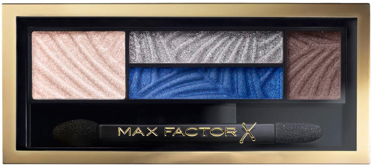 Max Factor 4-хцветные тени для век и бровей Smokey Eye Drama Kit 2 В 1, тон 06 azzure allure81513857Измени свой образ в 4простых шага с палеткой теней Max Factor Smokey Eye Drama Kit. Насыщенные пигментом оттенки и пудра для бровей идеально сочетаются друг с другом в одной палетке для создания гламурного макияжа глаз. Тени усиливают интенсивность и подчеркивают цвет глаз, - тебе только остается выбрать палетку, наиболее подходящую к цвету твоих глаз. Оттенок Lavish Onyx идеально подойдет глазам любого цвета, в то время как Azure Allure придаст выразительность голубым глазам. Оттенки Sumptuous Golds и Opulent Nudes придадут сияние карим глазам. Оттенок Magnetic Jades сделает выразительными глаза орехового оттенка, а Luxe Lilacs прекрасно оттенит зеленые глаза. Идеальная подборка цветов для сияющего взгляда. Каждая палетка содержит яркие пигменты, обогащенные бальзам-компонентами для идеально гладкого и равномерного нанесения. Эти запечённые тени содержат более высокую концентрацию перламутра по сравнению с классическими тенями – для превосходного блеска.4шага: 1) Начни с промежуточного оттенка, нанеси его в складку века и 2) слегка под нижним веком, чтобы создать базу для идеального дымчатого макияжа. 3) Растушуй на веках самый светлый оттенок, для плавного перехода в темный. 4) Придай форму бровям с помощью самого темного оттенка из палетки.