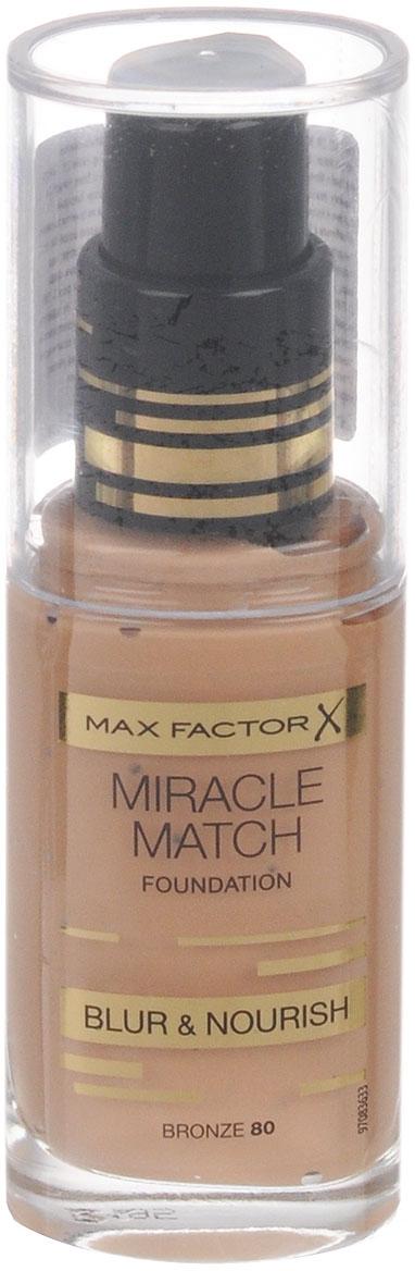 Max Factor Тональная Основа Miracle Match, тон Bronze 8081507992Попробуй идеальный образ в стиле «нюд». Тональная основа MaxFactorMiracleMatch обеспечивает идеальный оттенок и безупречную, увлажненную кожу. Она преображает кожу и создает здоровое и безупречное покрытие. Увлажняющая формула питает любой тип кожи и скрывает несовершенства, создавая прекрасный образ. Легкая формула, которая адаптируется к тону кожи и полностью сливается с ней. Кожа выглядит естественной и увлажненной. Эффективная эмульсия на основе воды и силикона + частицы силикона в составе улучшают внешний вид кожи, создавая идеальное умеренное покрытие. Подходит для чувствительной кожи и не содержит масла. Не закупоривает поры. Формула продукта обогащена полупрозрачными частицами слюды, которые позволяют коже отражать свет, создавая на ее поверхности натуральные блики. Благодаря этому эффекту, сияние, которое излучает ваше лицо, выглядит предельно естественно. Особые восстановленные пудровые частицы не скрывают природную красоту и текстуру кожи. Она становится свежей, а не тусклой и безжизненно-матовой. Тон буквльно растворяется на коже, адаптируясь к ее особенностям. Дополнительно светоотражающие микрогранулы работают по принципу Photoshop, выравнивая цвет лица и «размывая» несовершенства для безупречного результата. 40% формулы составляют ухаживающие вещества (глицерин, витамины Е и В), которые питают и увлажняют клетки кожи. Подходит для чувствительной кожи и не содержит масла. Не закупоривает порыЧтобы подобрать свой идеальный оттенок, нанеси немного тональной основы MiracleMatch на линию подбородка. Для получения ровного покрытия нанеси небольшое количество тональной основы на лицо и распредели ее от центра к краям кончиками пальцев или с помощью специальной кисти. Для создания естественного макияжа всегда наноси тональную основу при дневном освещении. Естественное покрытие готово.