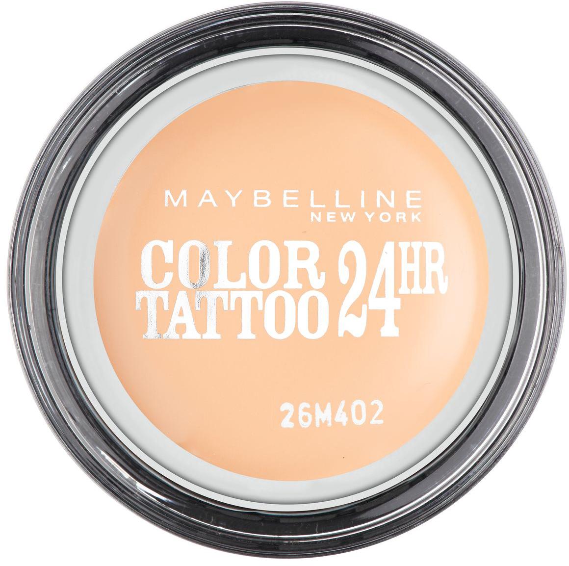 Maybelline New York Тени для век Color Tattoo, оттенок 93, Бежевая нежность, 4 млB2900301Технология тату-пигментов создает яркий, супернасыщенный цвет. Крем-гелевая текстура обеспечивает ультралегкое нанесение и стойкость на 24 часа.