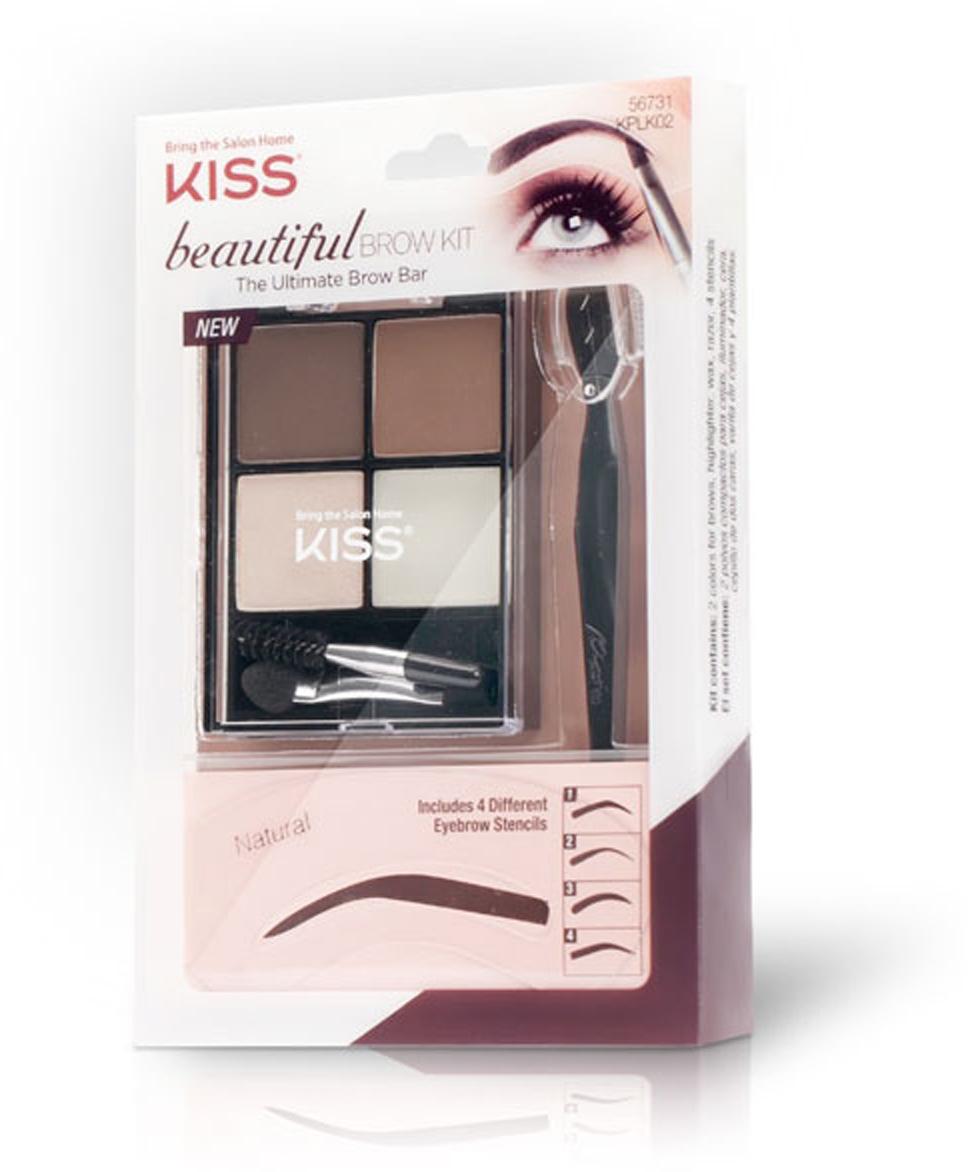 Kiss Набор для моделирования бровей Beautiful Brow Kit KPLK02C5754Набор для моделирования бровей Beautiful Kiss поможет легко и быстро оформить брови.Состав набора: Трафареты 4-х разных форм – для придания бровям любой формы. Триммер – для быстрого удаления волосков. Тени в 2-х оттенках – для придания бровям насыщенного цвета. Воск для бровей – для фиксации макияжа. Хайлайтер – для подсвечивания. Аппликаторы – для нанесения макияж.Как создать идеальные брови: пошаговая инструкция. Статья OZON Гид