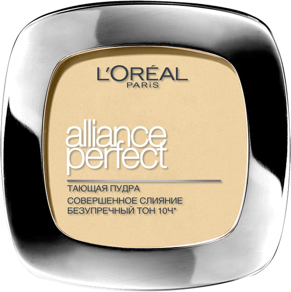 L'Oreal Paris Пудра Alliance Perfect, Совершенное слияние, выравнивающая и увлажняющая, оттенок N2, 9 г пудра