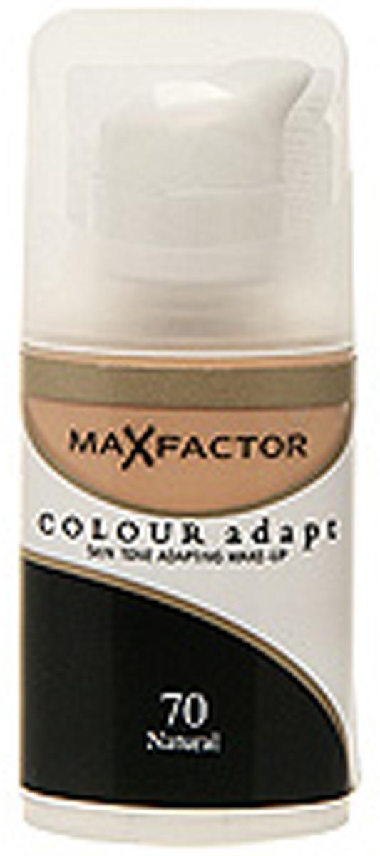 Max Factor Тональный крем Colour Adapt, тон 70 Natural (Натуральный), 34 млZ2603Тональная основа, которая поможет справиться с неровным тоном лица. Тональная основа Max Factor Colour Adapt адаптируется ктону кожи и создает естественное покрытие. Так в чемже секрет? «Умные частицы» тональной основы адаптируются ктону кожи, который отличается в разных зонах, обеспечивая невероятно легкое покрытие и не маскируя естественное свечение кожи. Тональная основа Max Factor Colour Adapt обеспечивает идеальный тон, кожа выглядит свежей и сияющей весь день. Инновационная технология для совершенства кожи. Помогает выровнять тон кожи, скрыть несовершенства и мелкие морщинки для создания идеального образа. Тональная основа Max Factor Colour Adapt имеет легкую формулу крем-пудры и подстраивается под любой тон кожи для удивительно естественного образа. Эмульсия на основе силикона и эластомера адаптируется ктону кожи и обеспечивает естественное умеренное покрытие для создания нежного и невесомого макияжа. Основа не содержит масел, подходит для чувствительной кожи, протестирована дерматологами, не закупоривает поры.Кремово-пудровая текстура для безупречного покрытия. Ультралегкая формула не сушит кожу. Содержит несколько цветовых пигментов, которые адаптируются ктону кожи. Не содержит масла, подходит для чувствительной кожи. Не закупоривает поры. Протестировано дерматологами.Сравни тон основы с тоном кожи на щеках и линии челюсти, чтобы подобрать идеальный оттенок. Если тон подобран правильно, то он буквально исчезнет на твоей коже. Чтобы достичь ровного покрытия, нанеси небольшое количество основы на тыльную сторону ладони и распредели по лицу кистью или кончиками пальцев. Нанеси небольшое количество на центральную часть лица и растушуй от центра кпериферии. Нанеси средство на веки и губы в качестве базы под тени и помаду.