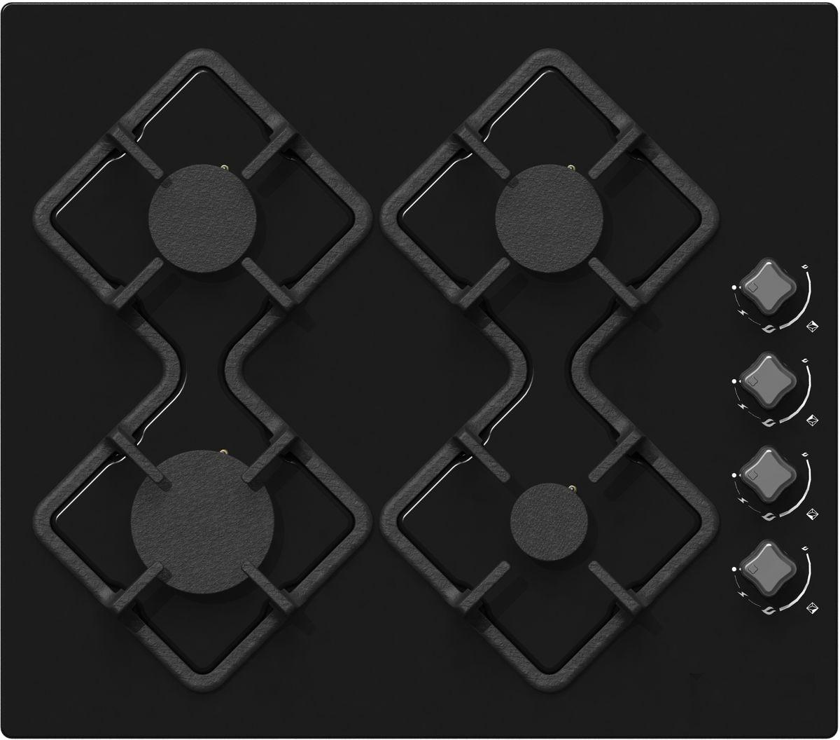 Ricci RGN-KA4007BL, Black варочная панель встраиваемая