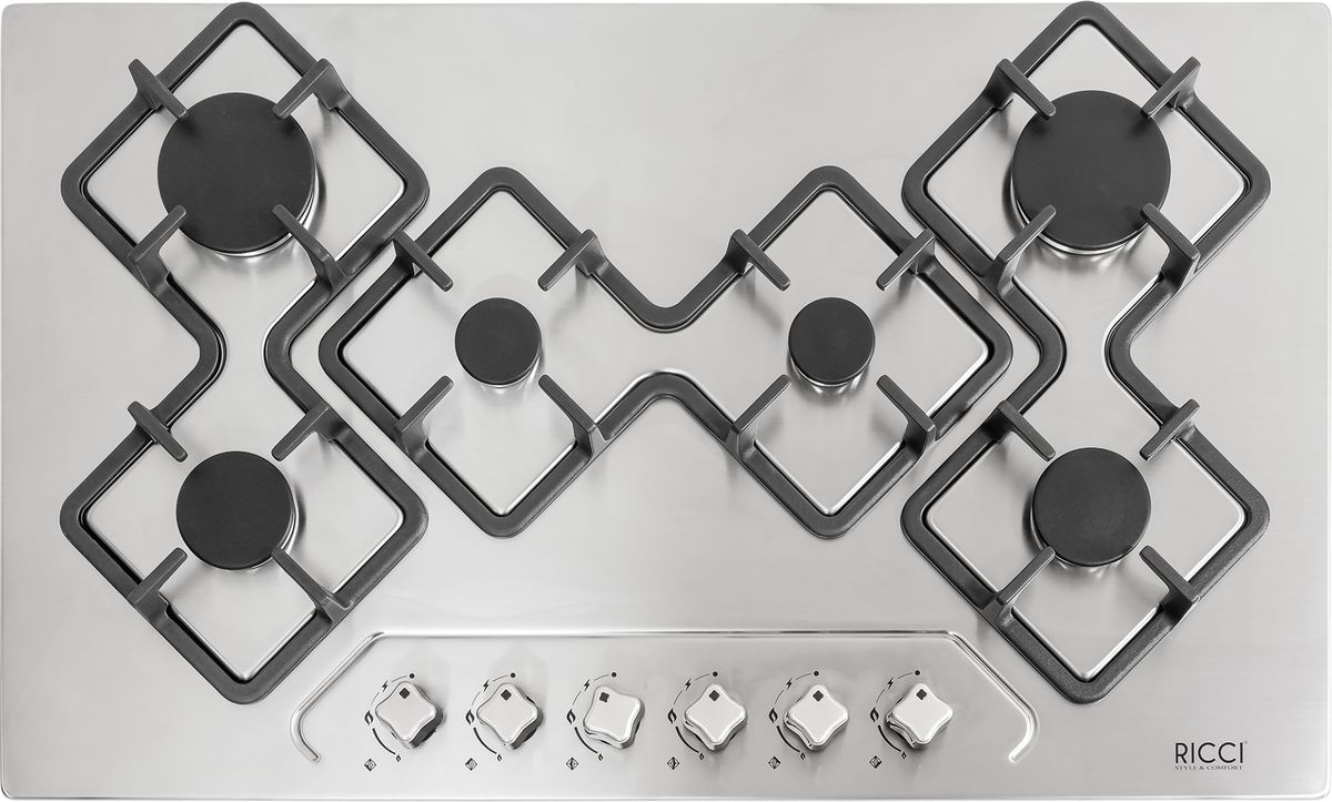 Ricci RGN-KA6018IX, Silver Grey варочная панель встраиваемая37 RGN-KA6018IX