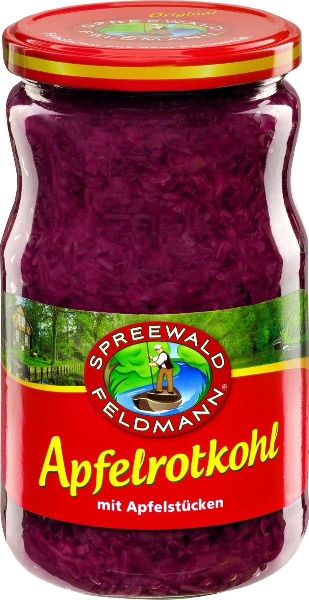 Spreewald Feldmann Капуста квашенная краснокочанная с яблоком,720 мл200809Краснокочанная капуста характеризуется долгим хранением. Она пригодна для гарниров, салатов.