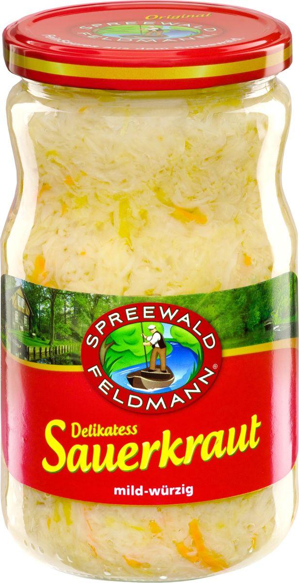 Spreewald Feldmann Капуста квашенная белокочанная, 720 мл stollenwerk брюссельская капуста молодая и нежная 720 г