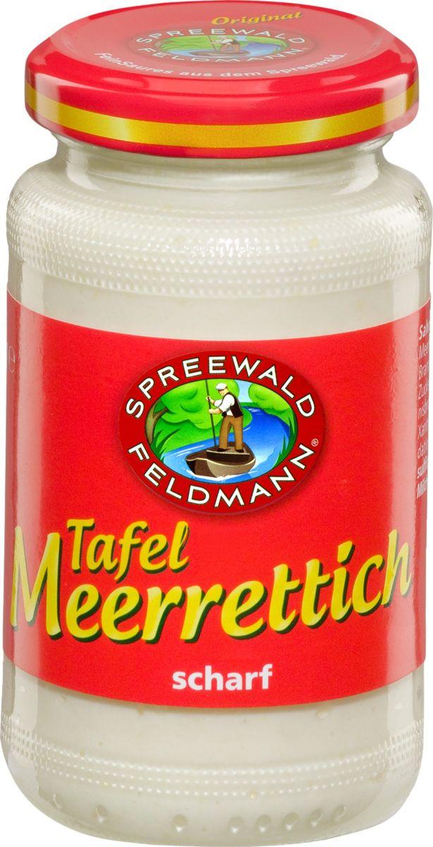 Spreewald Feldmann Хрен тертый консервированны, 160 мл200818Хрен консервированный тертый, прекрасно подходит к рыбным и мясным блюдам.