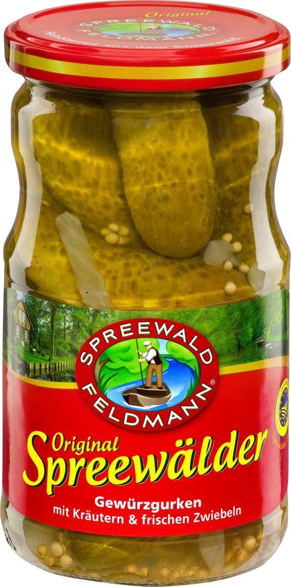 Spreewald Feldmann Огурцы маринованные, 370 мл artfood огурцы маринованные 720 мл